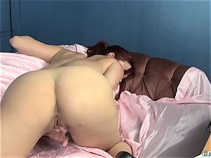 sensual Jayden Cole likes teasing her appetizing humid bean