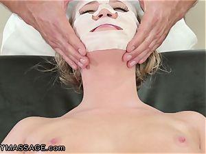 FantasyMassage Bailey Brooke On Top of masseuses meatpipe!