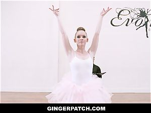 GingerPatch - redhead Ballerina riding Judges thick manmeat