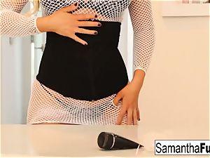 Samantha Saint has some solo rectal fun
