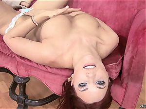 Jayden Cole whips out her succulent chubby mounds