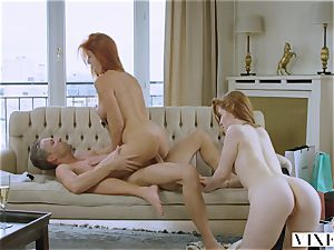 VIXEN A Rich couple Share A ideal ginger-haired On Vacation