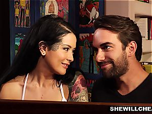 inked wifey Cheats On elderly hubby With super-hot man-meat