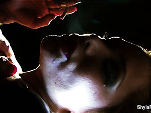 Shyla's killer smoking fetish taunt