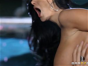 Ava Addams gets a cramming from the pool guy
