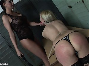 Mandy Bright spanking the booty super hot light-haired babe
